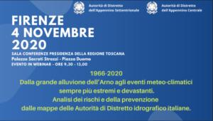 1966-2020 Dalla grande alluvione dell'Arno agli eventi meteo-climatici sempre più estremi e devastanti. Analisi dei rischi e della prevenzione dalle mappe delle Autorità di Distretto idrografico italiane.