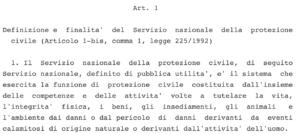 Articolo 1 comma 1 DECRETO LEGISLATIVO 2 gennaio 2018, n. 1
