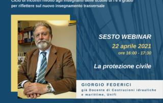 """""""La protezione civile"""", Giorgio Federici (già docente di Costruzioni idrauliche e marittime, Unifi)"""