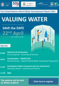 Programma Valuing Water - Webinar, 22 April 2021
