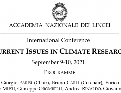 """""""Current Issues in Climate Research. With five messages to COP26""""_scarica il documento!"""