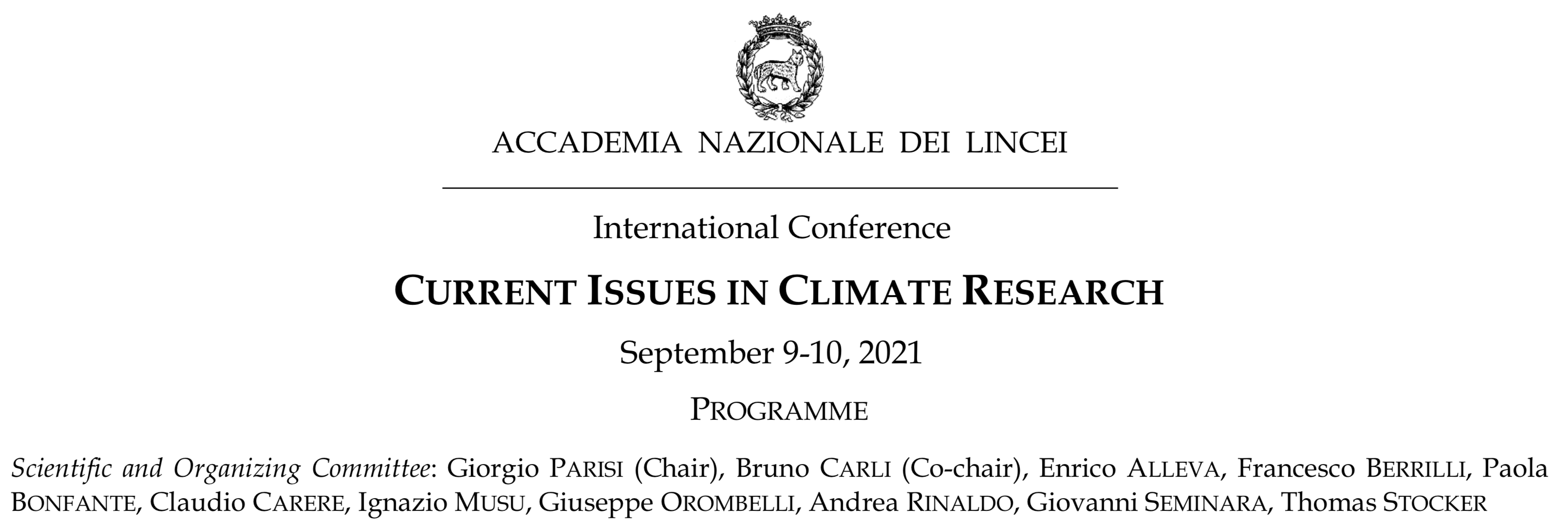 Current Issues in Climate Research - Conference
