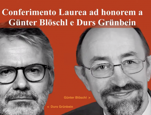 Conferimento Laurea ad honorem a Günter Blöschl e Durs Grünbein_video evento 29/9/2021