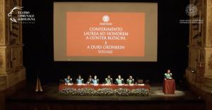 Teatro comunale di Bologna il 29/9/2021 per il Conferimento Laurea ad honorem a Günter Blöschl e Durs Grünbein
